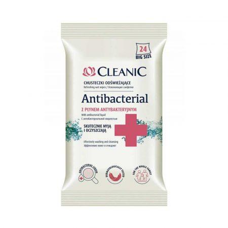 środki czystości i higiena 4 alibiuro.pl Chusteczki odświeżające CLEANIC Antybacterial 24szt. 66