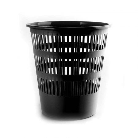 środki czystości i higiena 4 alibiuro.pl Kosz na śmieci DONAU ażurowy 12l czarny 28
