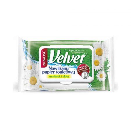 środki czystości i higiena 4 alibiuro.pl Papier toaletowy celulozowy VELVET Rum Aloe nawilżany 42 listki biały 97