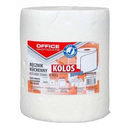 środki czystości i higiena 4 alibiuro.pl Ręczniki kuchenne celulozowe OFFICE PRODUCTS Kolos Junior 2 warstwowe 300 listków 60m białe 84