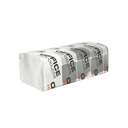 środki czystości i higiena 4 alibiuro.pl Ręczniki składane ZZ makulaturowe ekonomiczne OFFICE PRODUCTS 1 warstwowe 4000 listków 20szt. białe 51