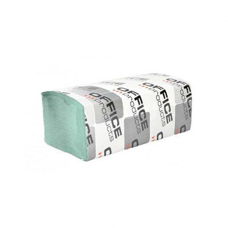 środki czystości i higiena 4 alibiuro.pl Ręczniki składane ZZ makulaturowe ekonomiczne OFFICE PRODUCTS 1 warstwowe 4000 listków 20szt. zielone 56