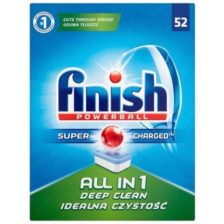 środki czystości i higiena 4 alibiuro.pl Tabletki do zmywarki FINISH All in one Powerball 52szt. regular 20
