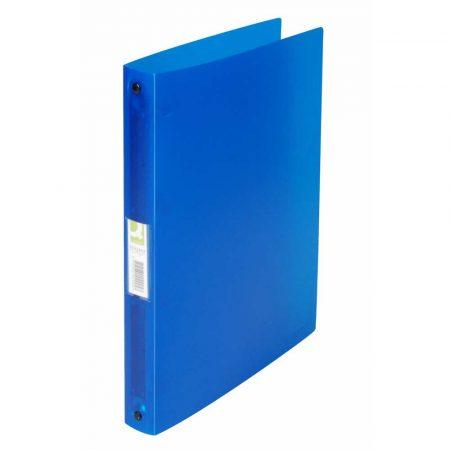 segregator 4 alibiuro.pl Segregator ringowy Q CONNECT PP A4 4R 25mm transparentny niebieski 78