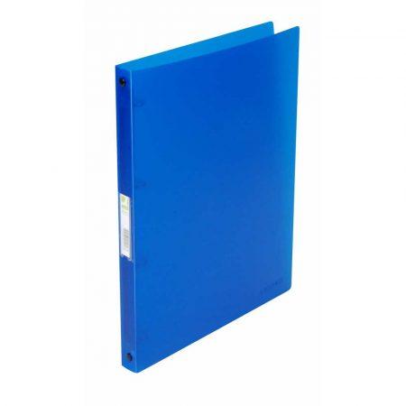 segregator poziomy 4 alibiuro.pl Segregator ringowy Q CONNECT PP A4 4R 16mm transparentny niebieski 79