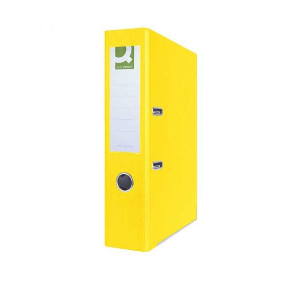 segregatory 4 alibiuro.pl Segregator Q CONNECT Hero z szyną PP A4 75mm żółty 85