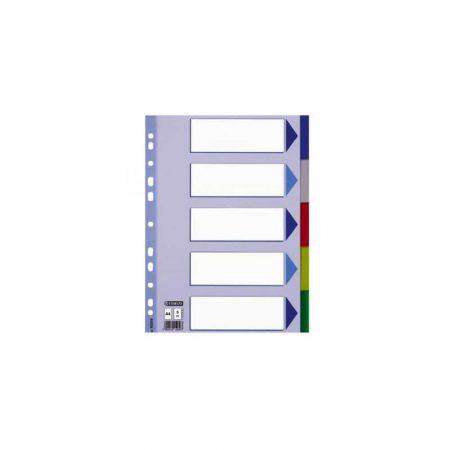sprzęt biurowy 1 alibiuro.pl 15264 Przekładki A5 5 kolorowe 5 stron PCV 57