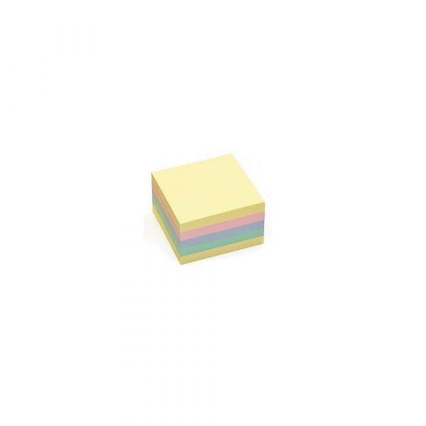 sprzęt biurowy 1 alibiuro.pl 9262 Karteczki samoprzylepne kostka 75 x 75 mm 450 kart. D.Rect mix kolorów pastelowy 95