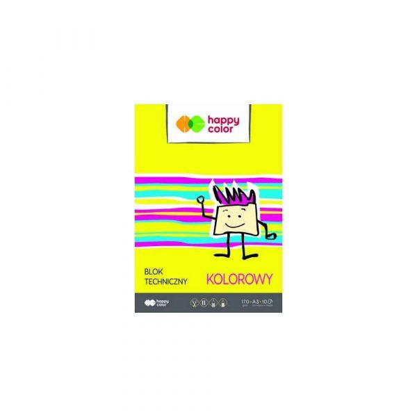 sprzęt biurowy 1 alibiuro.pl Blok techniczny kolorowy A3 10 ark. 170 g m Happy Color HA 3550 3040 09 75
