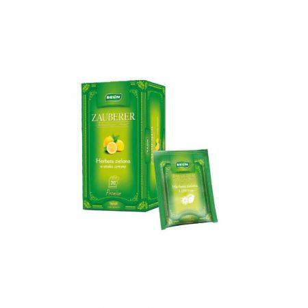 sprzęt biurowy 1 alibiuro.pl Herbata zielona z cytryną w kopertach 20 szt. ZAUBERER Belin 23