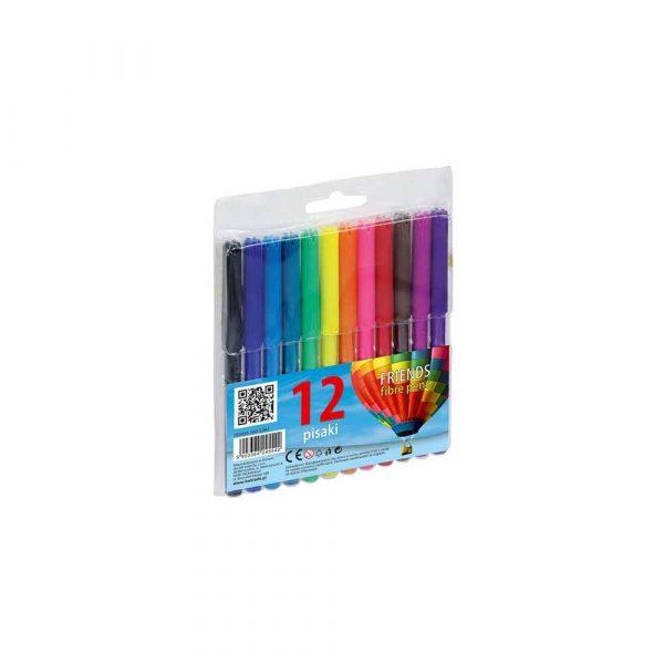 sprzęt biurowy 1 alibiuro.pl Pisaki flamastry 12 kolorów Fiorello Grand 160 1382 26