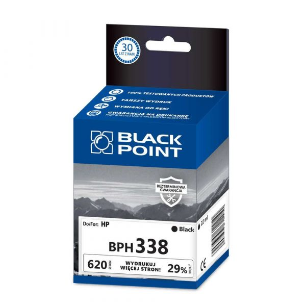 sprzęt biurowy 3 alibiuro.pl BPH338 Ink Tusz BP HP BLIS BlackPoint BPH338 SGH0338BGBW 62