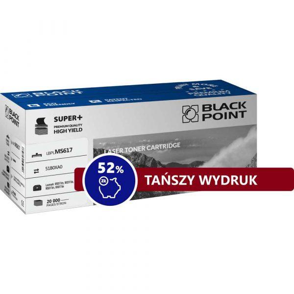sprzęt biurowy 3 alibiuro.pl LBPLMS617 Toner BP S Lexmark 51B0XA0 BlackPoint LBPLMS617 BLLMX617BKBW 28