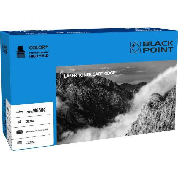 sprzęt biurowy 3 alibiuro.pl LCBPHM680C Toner BP HP CF321A BlackPoint LCBPHM680C BLH680CBW 12