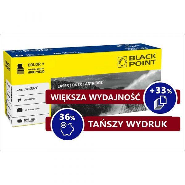sprzęt biurowy 3 alibiuro.pl LCBPOC332Y Toner BP Oki 46508709 BlackPoint LCBPOC332Y BLOKI332YEBW 71