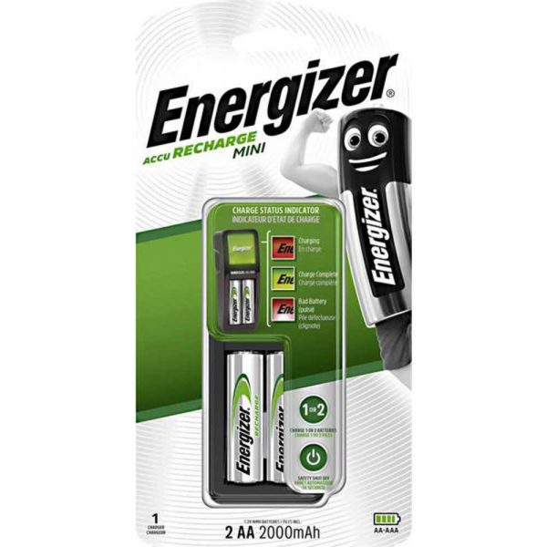sprzęt biurowy 4 alibiuro.pl Ładowarka ENERGIZER Mini 2 szt. akumulatorków Power Plus AA 98