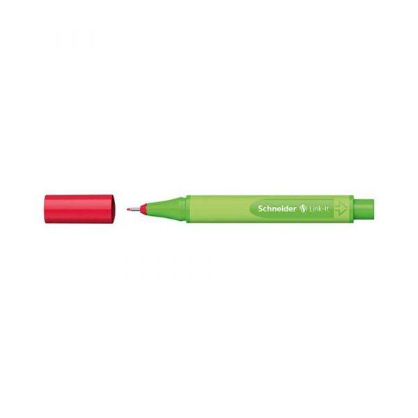 sprzęt biurowy 4 alibiuro.pl Cienkopis SCHNEIDER Link It 0 4mm czerwony 82