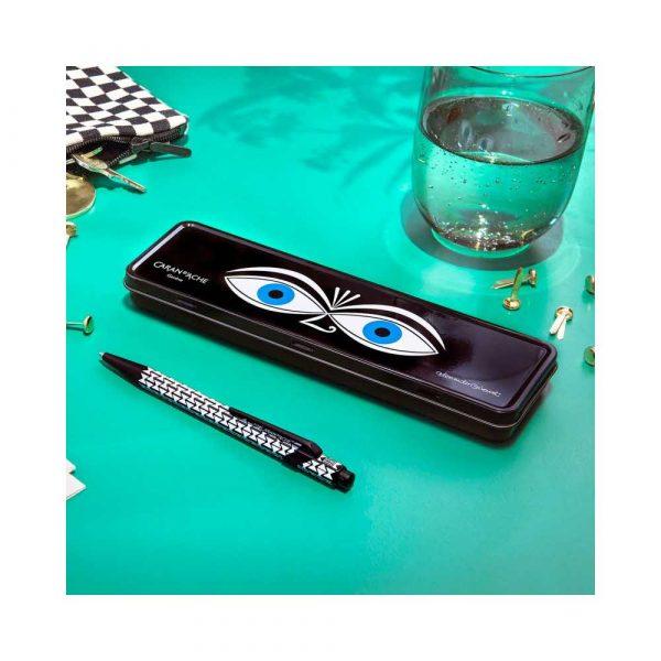 sprzęt biurowy 4 alibiuro.pl Długopis CARAN D Inch ACHE 849 Alexander Girard Black M w pudełku czarny 96