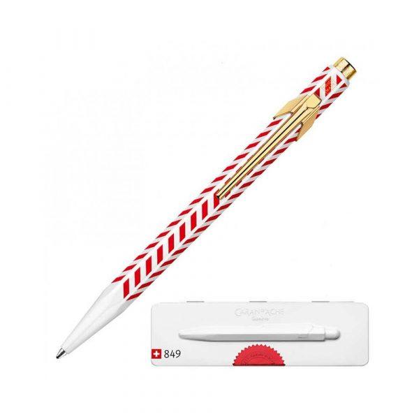 sprzęt biurowy 4 alibiuro.pl Długopis CARAN D Inch ACHE 849 Chevron M w pudełku czerwony 85