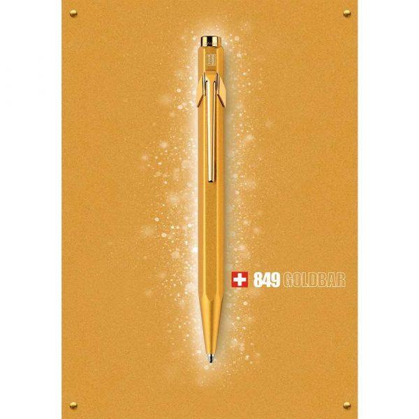 sprzęt biurowy 4 alibiuro.pl Długopis CARAN D Inch ACHE 849 Goldbar M w pudełku złoty 33