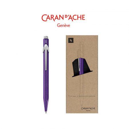 sprzęt biurowy 4 alibiuro.pl Długopis CARAN D Inch ACHE 849 Nespresso Arpeggio M w pudełku fioletowy 33