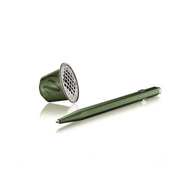 sprzęt biurowy 4 alibiuro.pl Długopis CARAN D Inch ACHE 849 Nespresso Green India M w pudełku zielony 96