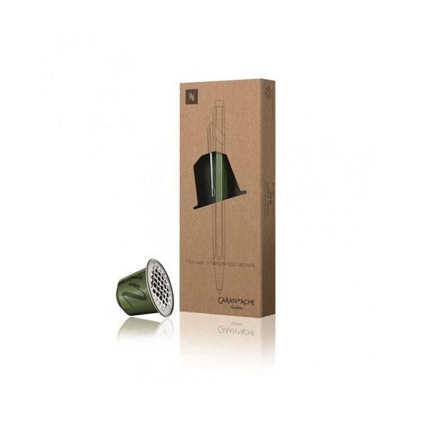 sprzęt biurowy 4 alibiuro.pl Długopis CARAN D Inch ACHE 849 Nespresso Green India M w pudełku zielony 98