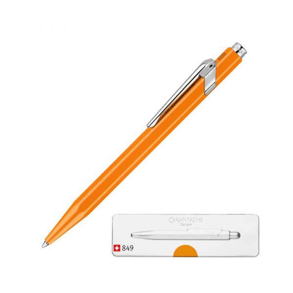 sprzęt biurowy 4 alibiuro.pl Długopis CARAN D Inch ACHE 849 Pop Line Fluo M w pudełku pomarańczowy 48