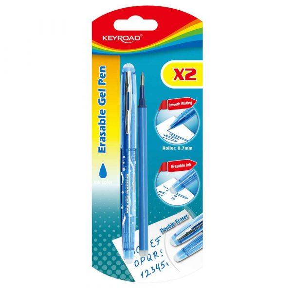 sprzęt biurowy 4 alibiuro.pl Długopis KEYROAD 0 7mm wymazywalny dodatkowy wkład blister niebieski 7