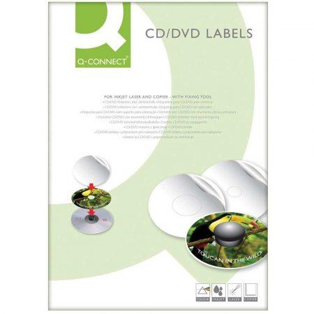 sprzęt biurowy 4 alibiuro.pl Etykiety na płyty CD DVD Q CONNECT średnica 117mm okrągłe białe 83