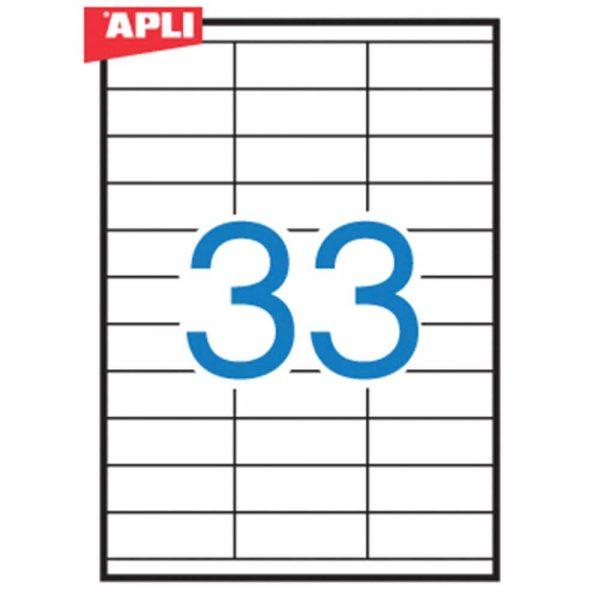 sprzęt biurowy 4 alibiuro.pl Etykiety uniwersalne APLI 70x25 4mm prostokątne białe 100 ark. 88