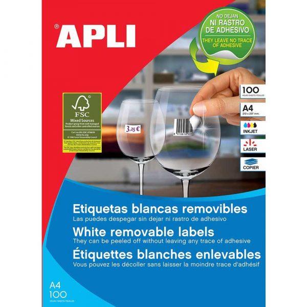 sprzęt biurowy 4 alibiuro.pl Etykiety usuwalne APLI 64 6x33 8mm prostokątne białe 2