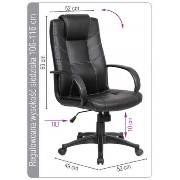 sprzęt biurowy 4 alibiuro.pl Fotel biurowy OFFICE PRODUCTS Corsica czarny 11