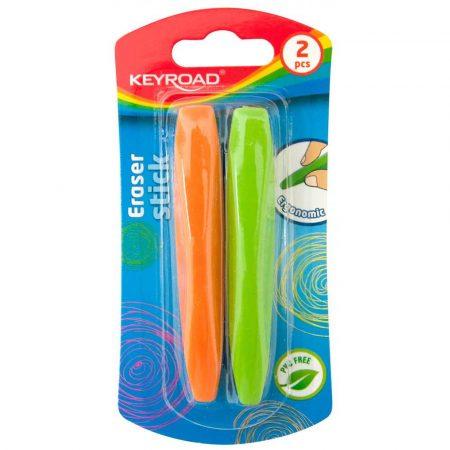 sprzęt biurowy 4 alibiuro.pl Gumka uniwersalna KEYROAD Stick 2szt. blister mix kolorów 27