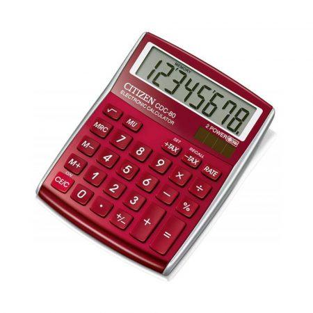 sprzęt biurowy 4 alibiuro.pl Kalkulator biurowy CITIZEN CDC 80 RDWB 8 cyfrowy 135x80mm czerwony 16