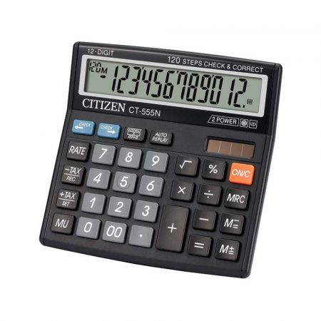 sprzęt biurowy 4 alibiuro.pl Kalkulator biurowy CITIZEN CT 555N 12 cyfrowy 130x129mm czarny 66