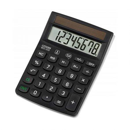sprzęt biurowy 4 alibiuro.pl Kalkulator biurowy CITIZEN ECC 210 8 cyfrowy 143x102mm czarny 95