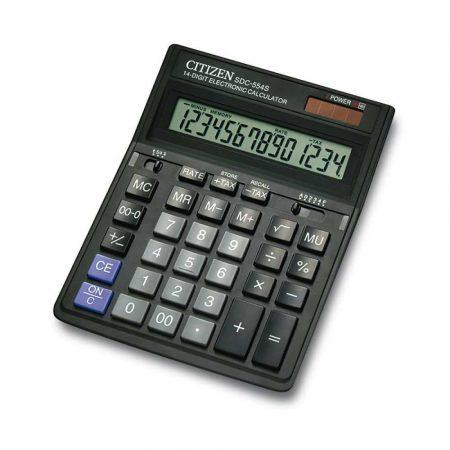 sprzęt biurowy 4 alibiuro.pl Kalkulator biurowy CITIZEN SDC 554S 14 cyfrowy 199x153mm czarny 22