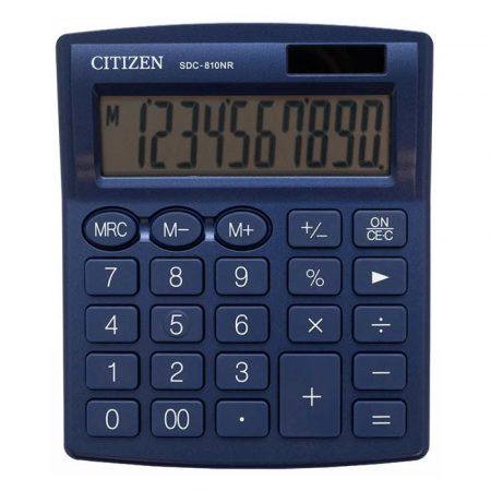 sprzęt biurowy 4 alibiuro.pl Kalkulator biurowy CITIZEN SDC 810NRNVE 10 cyfrowy 127x105mm granatowy 65