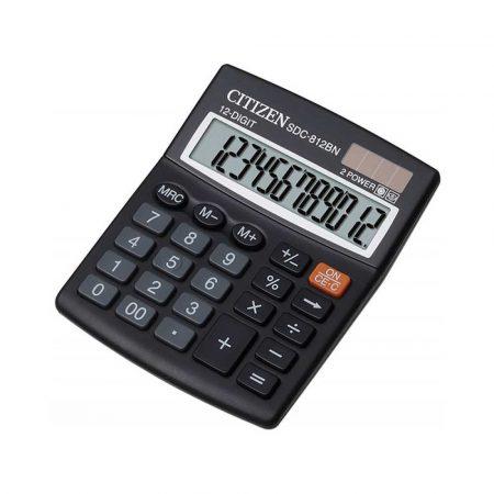 sprzęt biurowy 4 alibiuro.pl Kalkulator biurowy CITIZEN SDC 812BN 12 cyfrowy 124x102mm czarny 57
