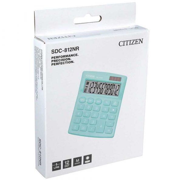 sprzęt biurowy 4 alibiuro.pl Kalkulator biurowy CITIZEN SDC 812NRGRE 12 cyfrowy 127x105mm zielony 12
