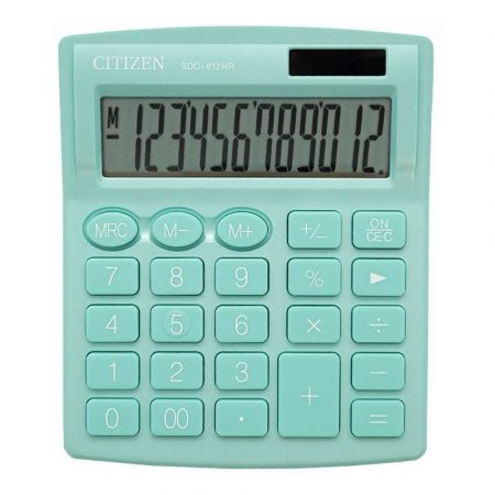 sprzęt biurowy 4 alibiuro.pl Kalkulator biurowy CITIZEN SDC 812NRGRE 12 cyfrowy 127x105mm zielony 76