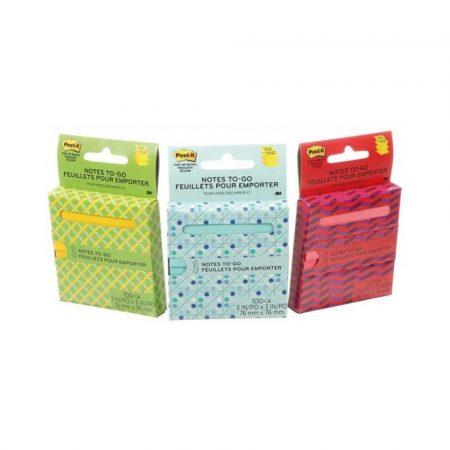 sprzęt biurowy 4 alibiuro.pl Karteczki samoprzylepne Post it Z Notes On The Go R330 OTG 76x76mm 1x100 kart. w kartonowym podajniku mix kolorów 85