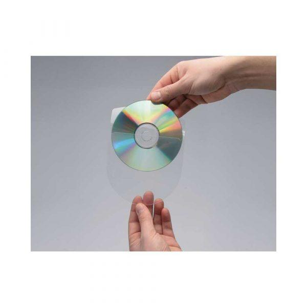 sprzęt biurowy 4 alibiuro.pl Kieszeń samoprzylepna Q CONNECT na 2 4 płyty CD DVD 127x127mm 10szt. 9