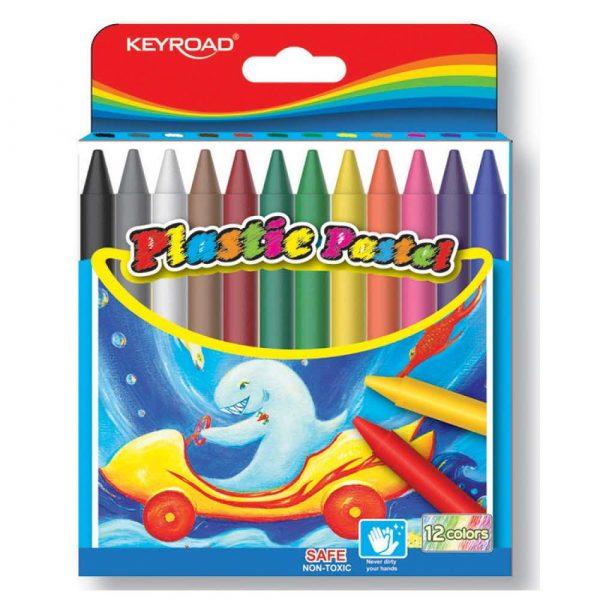 sprzęt biurowy 4 alibiuro.pl Kredki woskowe KEYROAD sześciokątne 12szt. mix kolorów 31