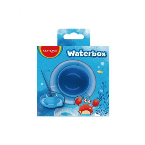 sprzęt biurowy 4 alibiuro.pl Kubeczek na wodę do malowania KEYROAD ze spodkiem pudełko niebieski 14