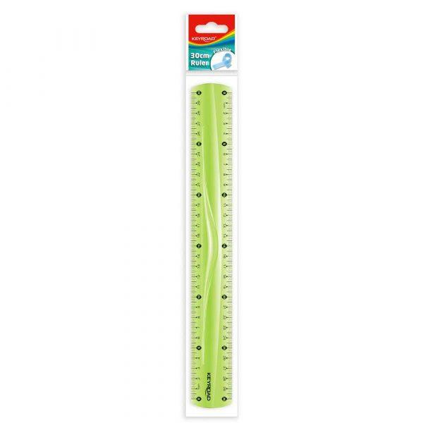 sprzęt biurowy 4 alibiuro.pl Linijka KEYROAD 30cm elastyczna zawieszka mix kolorów 44