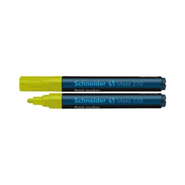 sprzęt biurowy 4 alibiuro.pl Marker olejowy SCHNEIDER Maxx 270 okrągły 1 3mm żółty 70
