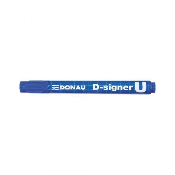 sprzęt biurowy 4 alibiuro.pl Marker permanentny DONAU D Signer U okrągły 2 4mm linia niebieski 46