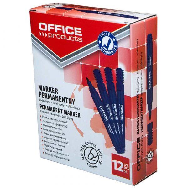 sprzęt biurowy 4 alibiuro.pl Marker permanentny OFFICE PRODUCTS okrągły 1 3mm linia niebieski 55